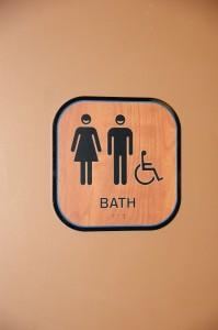 ADA Compliant Smile Branded Dental Restroom Sign