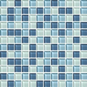 Daltile Winter Blues Glass Mosaic - aligned with current trends.