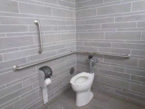 This is how an ADA compliant bathroom is supposed to look.