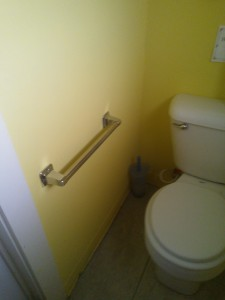 A towel bar doesn't make a good ADA grab bar
